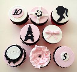 Parisian Barbie Dozen Cupcakes