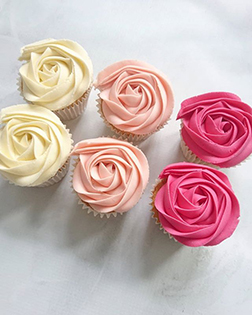 Shades of Roses Dozen Cupcakes