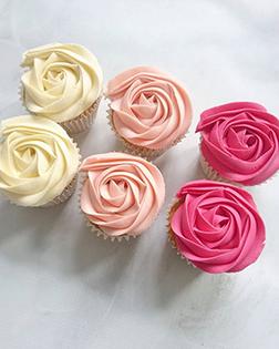 Shades of Roses Dozen Cupcakes