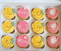 Sunny Swirls Birthday Cupcakes