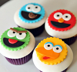 Seseme Street Friends Dozen Cupcakes