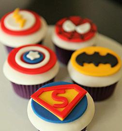 Superhero Badges Dozen Cupcakes