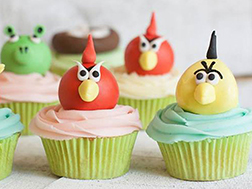 Angry Bird Friends Cupcakes