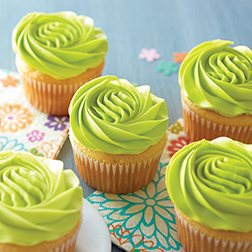 Glam Green Cupcakes