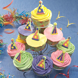 Party Hats Cupcakes