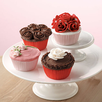 Delectable Roses Cupcakes