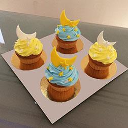 Moon And Stars Dozen Eid Cupcakes