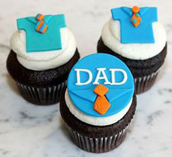 Office Wear Father's Day Cupcakes