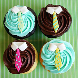 Father's Day Swirls Cupcakes