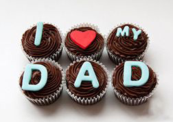 I Love Dad Cupcakes