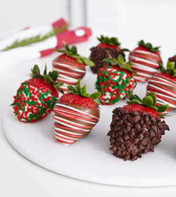 Christmas Spirit Dipped Dozen Strawberries