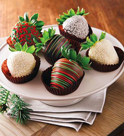 Snowy Night Dipped Strawberries