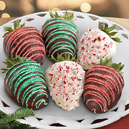 Christmas Swizzles Dipped Dozen Strawberries