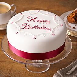 Red Ribbon Birthday Cake