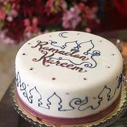 Line Art Ramadan Cake