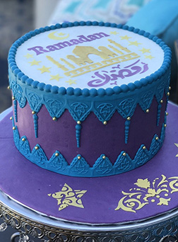 Midnight Blue Ramadan Cake