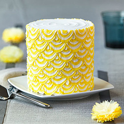 Yellow Drapes Cake