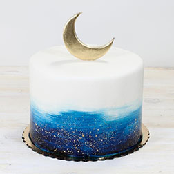 Golden Crescent Eid Cake