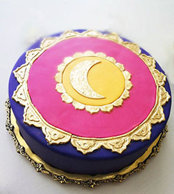 Golden Eid Cake