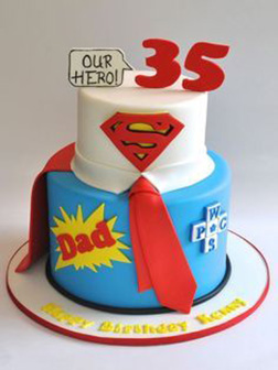 Our Hero Dad Cake
