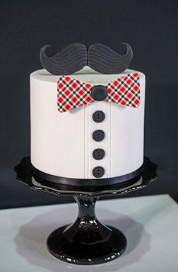 Plaid Bow Tie Dad Cake