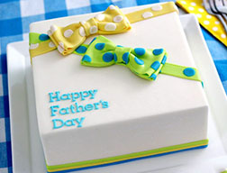 Polka Dot Bows Father's Day Cake