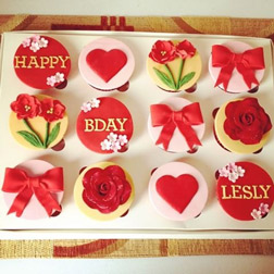 Birthday Bows Dozen Cupcakes