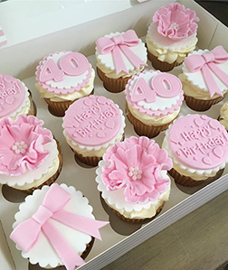 Pink Birthday Surprise Dozen Cupcakes