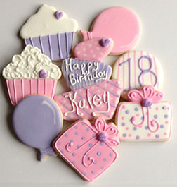 Retro Pink Cookies