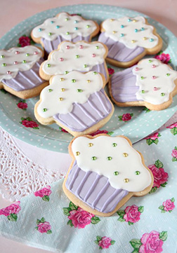 Sparkly Cupcake Cookies