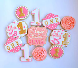 Young Diva Birthday Cookies