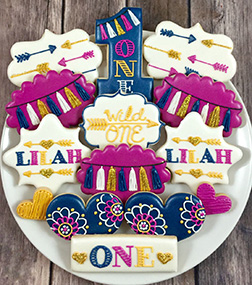 Wild One Birthday Cookies