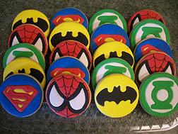Superhero Emblem Cookies