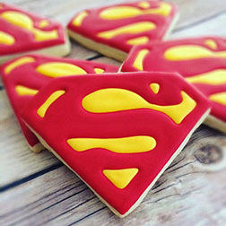 Superman Emblem Cookies
