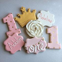 Royal Birthday Cookies