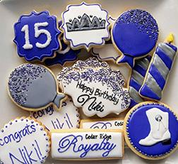 True Blue Birthday Cookies