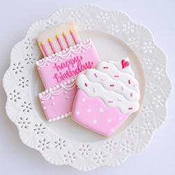 Pink Sprinkle Birthday Cookies