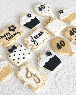 Golden Glam Birthday Cookies