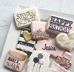Sparkling love Birthday Cookies