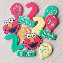 Happy Elmo Birthday Cookies