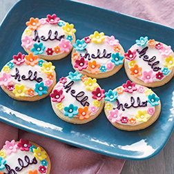 Floral Hello Cookies