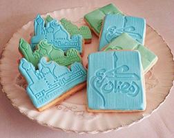 Green and Blue Ramadan Cookies
