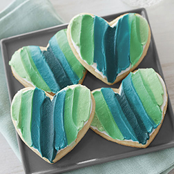 Shades of Love Heart Cookies