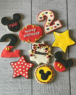 Mickey Club Birthday Cookies