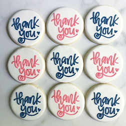 Thank You Note Cookies