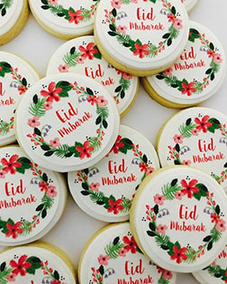 Flower Wreath Eid Cookies