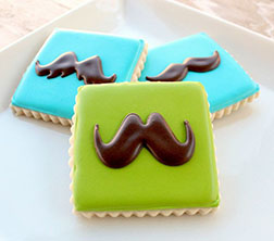 Simple Mustache Father's Day Cookies