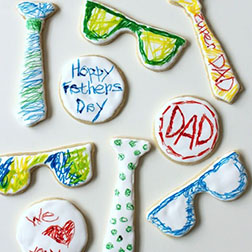 Scribbled for Dad Cookies