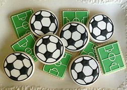 Football Pitch Cookies