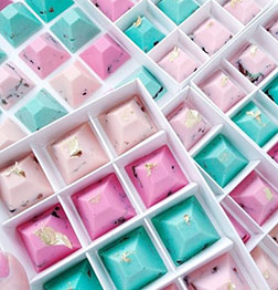 Splash of Color Gemstone Chocolates by Annabelle Chocolates
